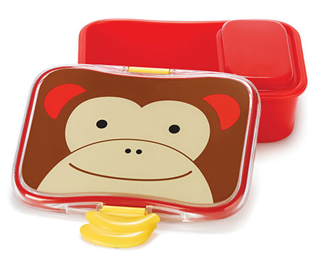 Skip Hop Zoo 4 Piece Lunch Box Monkey