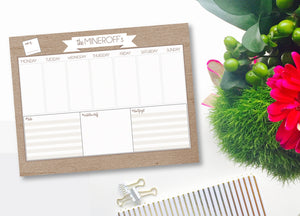 WEEKLY CALENDAR NOTEPADS
