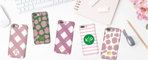 monogram phone case personalized