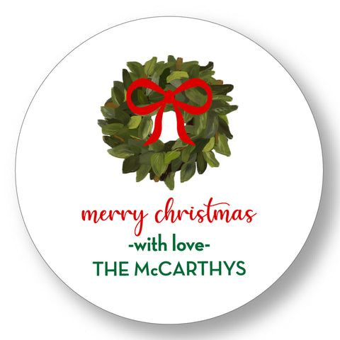 Holiday Gift Sticker Eucalyptus Wreath