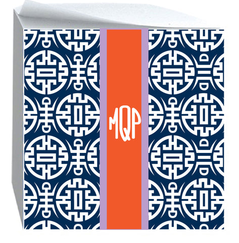 Post it Note Cube Chinoiserie Navy