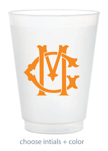 Custom Frosted Cup - Interlocking Monogram