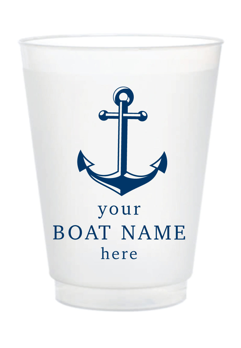 Custom Frosted Cup - Your Boat Name