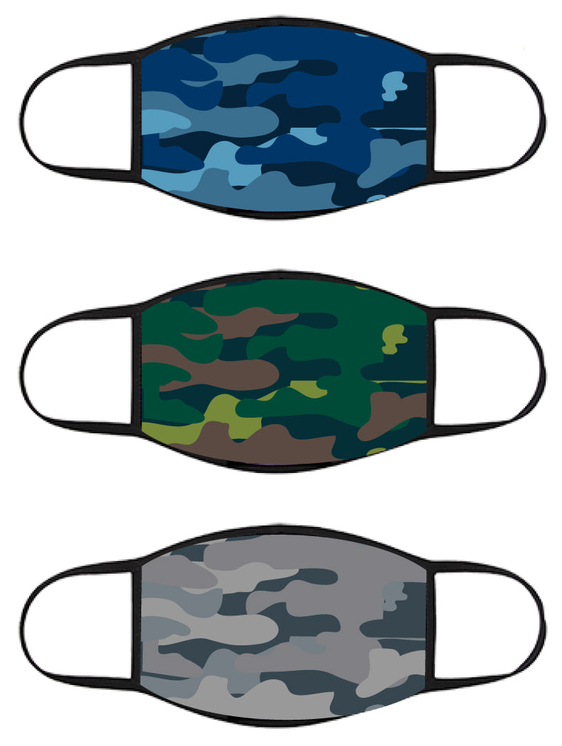 FACE MASK - Three Pack - Camoflauge