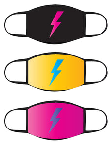 FACE MASK - Three Pack - Lightning Bolt