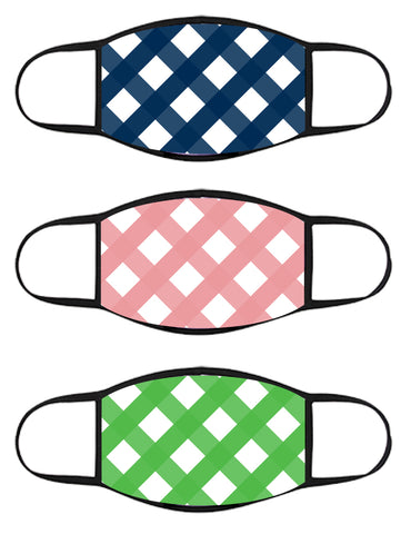 FACE MASK - Three Pack - Gingham