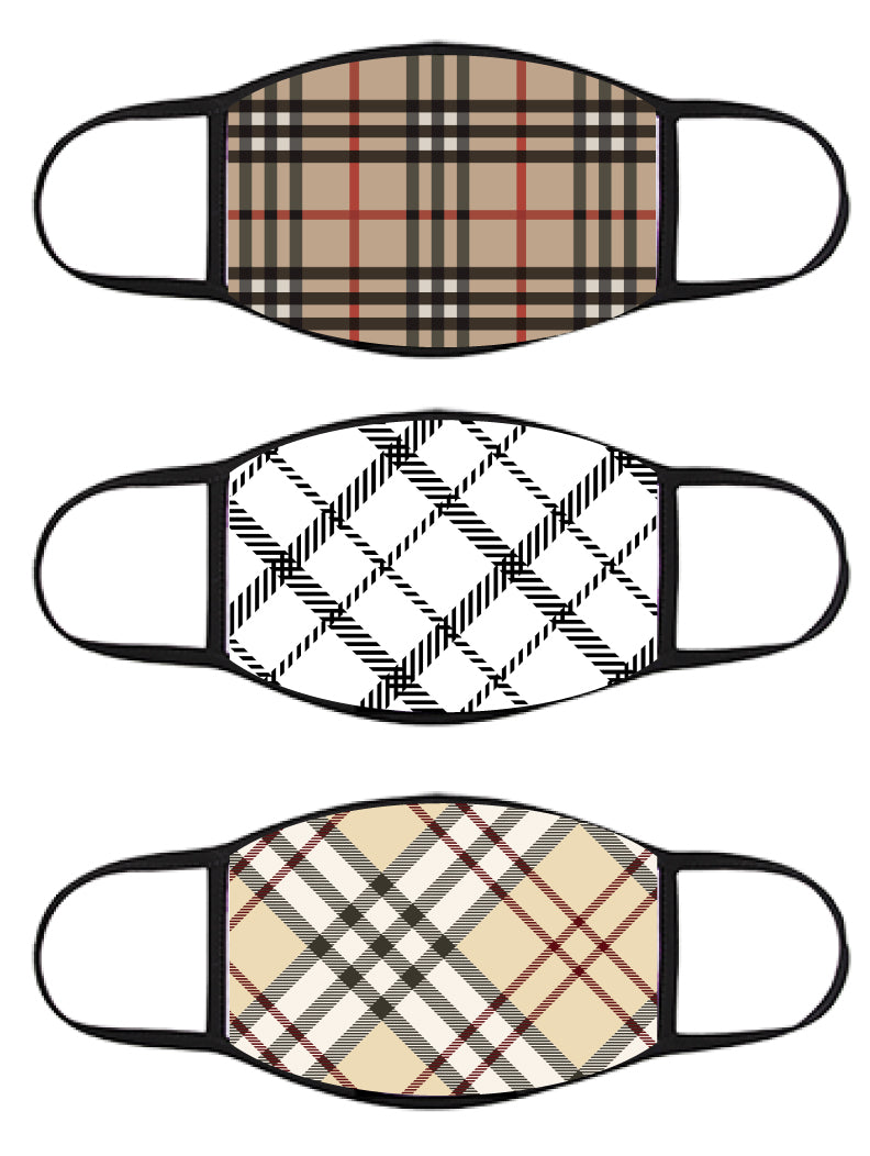 FACE MASK - Three Pack - Plaid