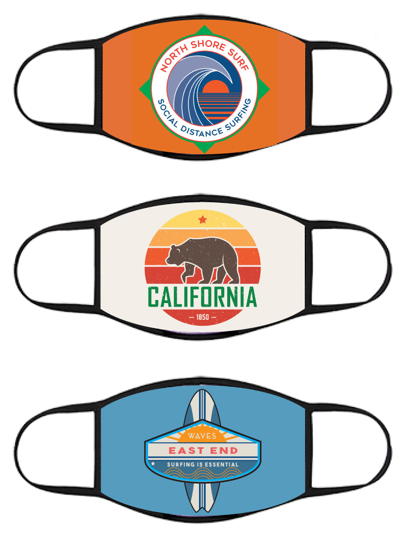 FACE MASK - Three Pack - Vintage Surfer