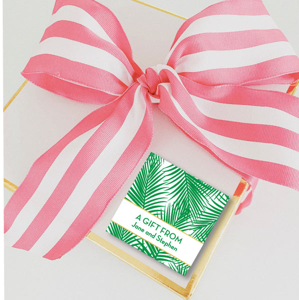 Gift Sticker Palm Leaves