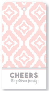 Gift Tag New Ikat Blush