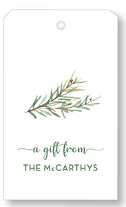 Gift Tag Watercolor Fern