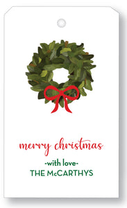 Gift Tag Holiday Eucalyptus Wreath - more colors available
