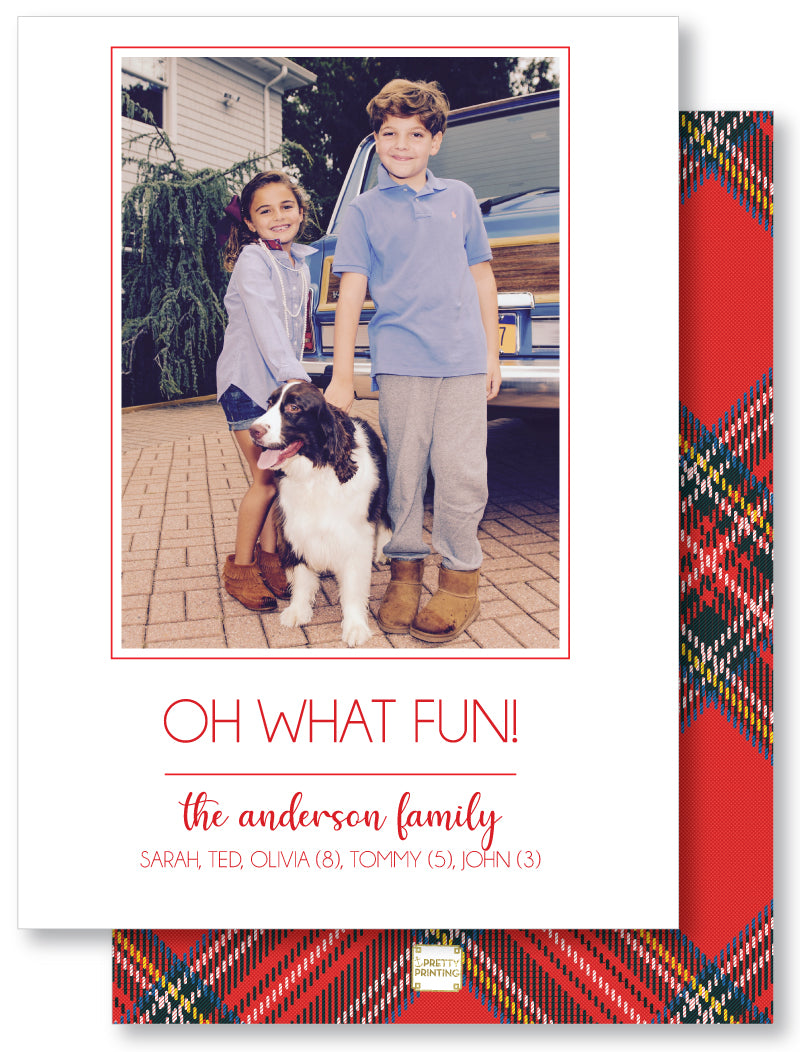 Luxe Holiday Classic 5x7 Holiday Plaid Red