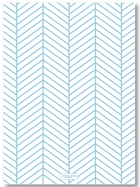 Holiday Classic Photo Card Triple Stripe Border - French Blue