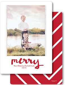 Holiday Red Chevron