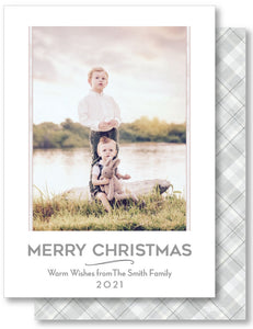 Luxe Holiday Classic 5x7 Plaid Grey