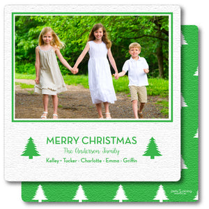 Luxe Holiday Photo Card Merriest Trees