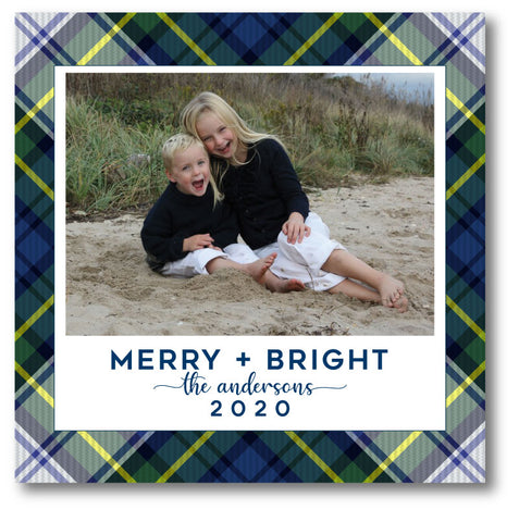 Luxe Holiday Photo Card Cambridge Plaid