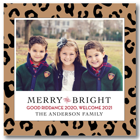 Holiday Photo Card Leopard Print