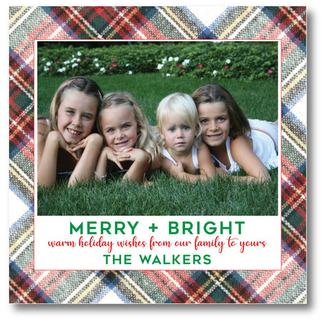 Holiday Photo Card Christmas Flannel