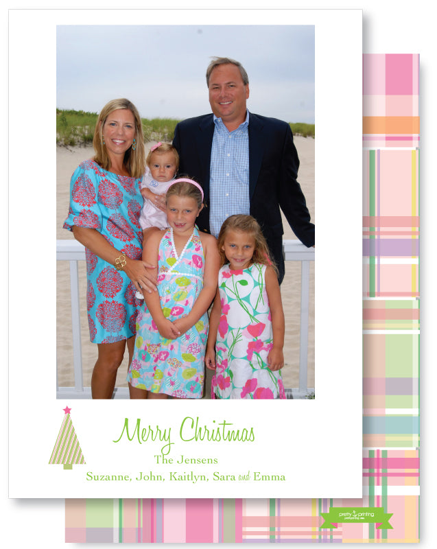 Luxe Holiday Classic 5x7 Madras Pink