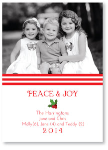 Holiday Photo Card Rugby Red