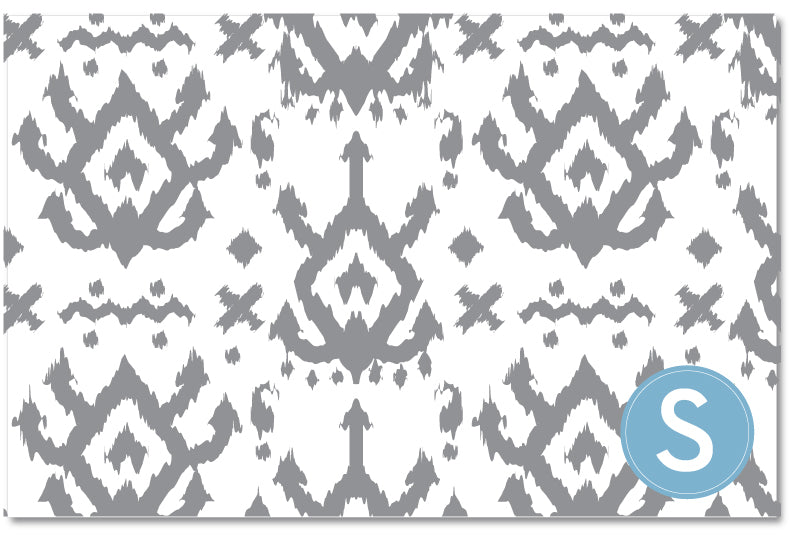 Laminated Placemat - Island Ikat Grey