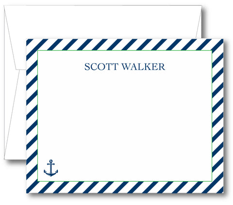 Classic Notecard - Anchor Stripes (click for more colors options)