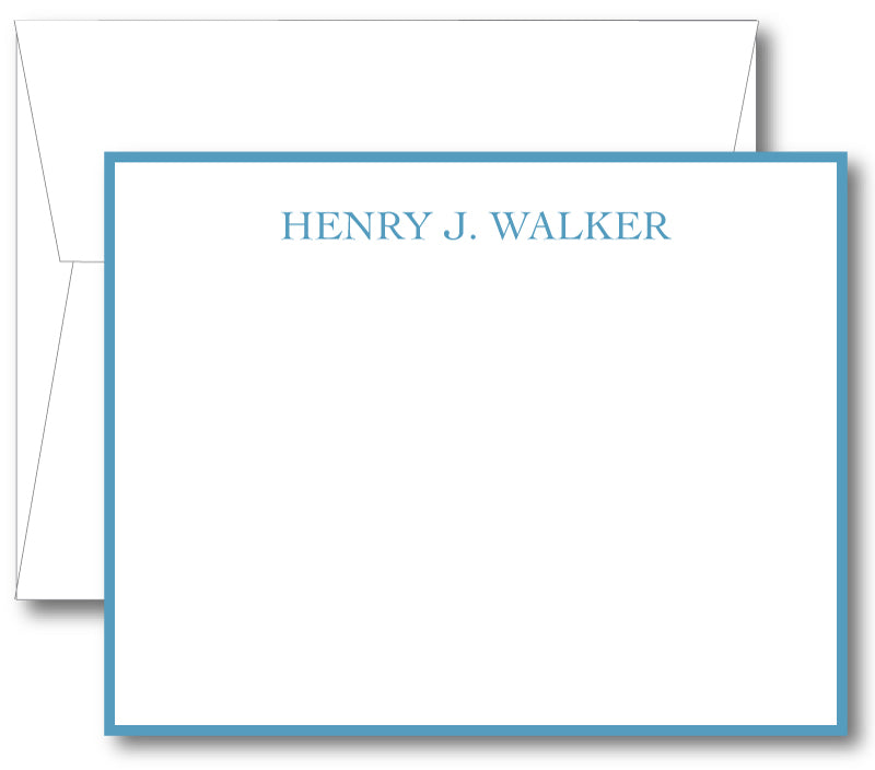 Classic Notecard - Name Classic Print Border (click for more colors options)