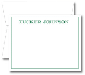 Classic Notecard - Name Classic Print (click for more colors options)