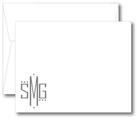 Classic Monogram Notecard - Square Dot (click for more colors options)