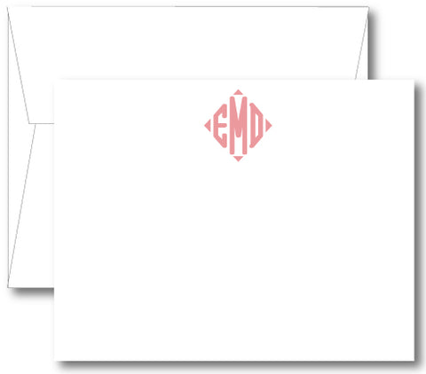 Classic Monogram Notecard - Diamond (click for more colors options)