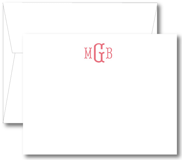 Classic Monogram Notecard - Fishtail (click for more colors options)