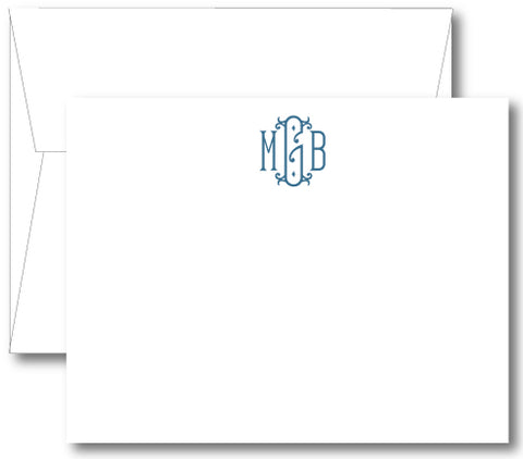 Classic Monogram Notecard - Royal (click for more colors options)