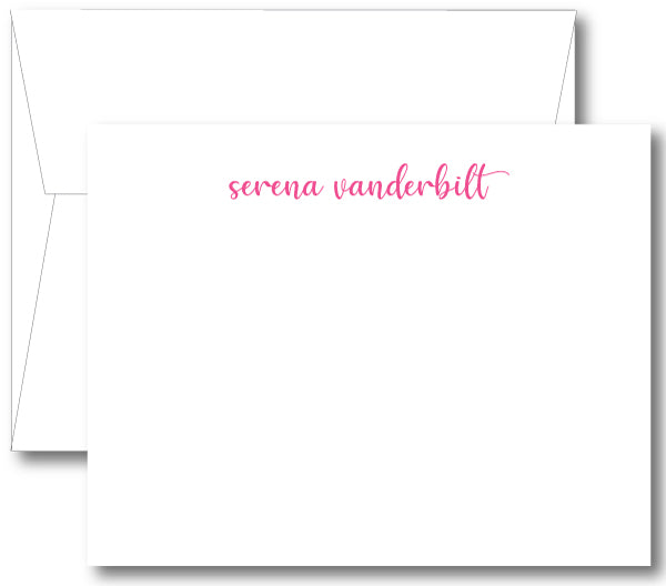 Classic Notecard - Name Modern Script (click for more color options)