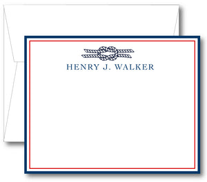 Classic Notecard - Nautical Rope Border (click for more colors options)
