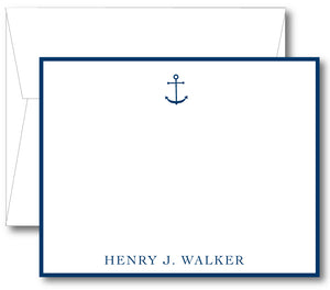 Classic Notecard - Anchor Border (click for more colors options)