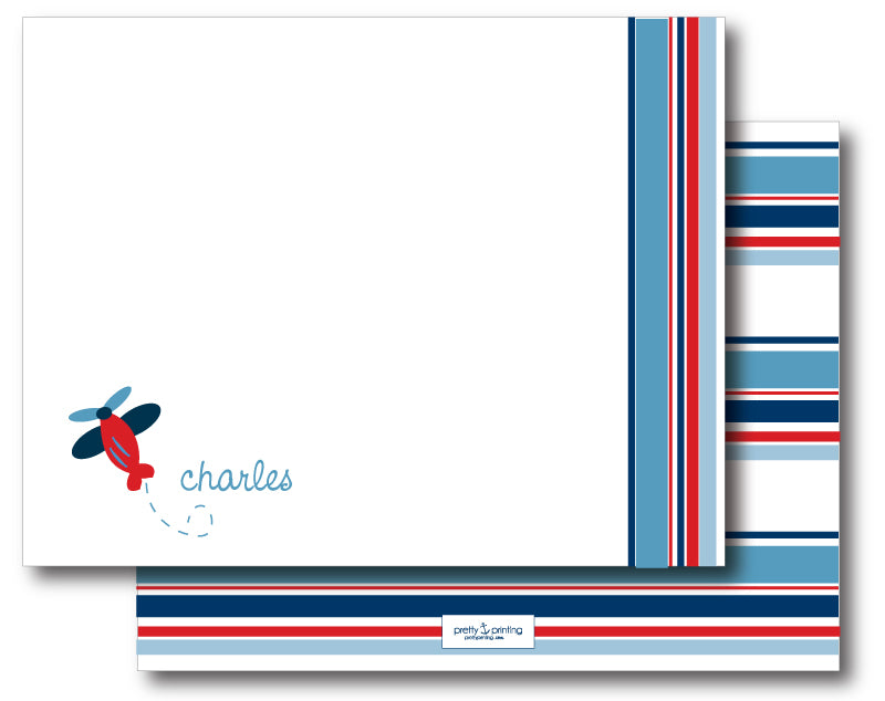 Notecard Double Sided - Airplane