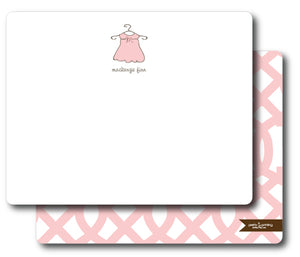 Notecard Double Sided - Monogram Dress