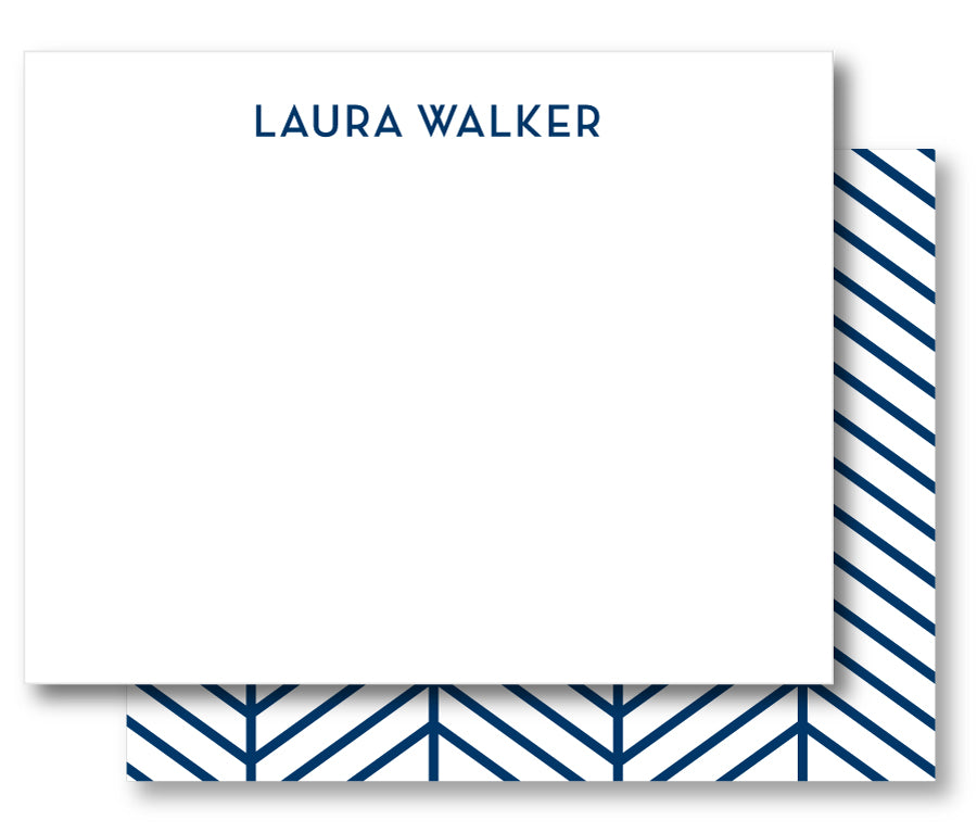 Notecard Double Sided - Modern Herringbone