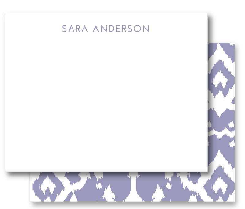 Notecard Double Sided - Island Ikat Dusty Orchid