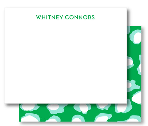 Notecard Double Sided - Chic Leo Green