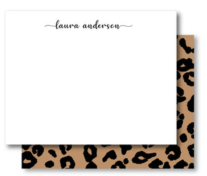 Notecard Double Sided - Classic Leopard