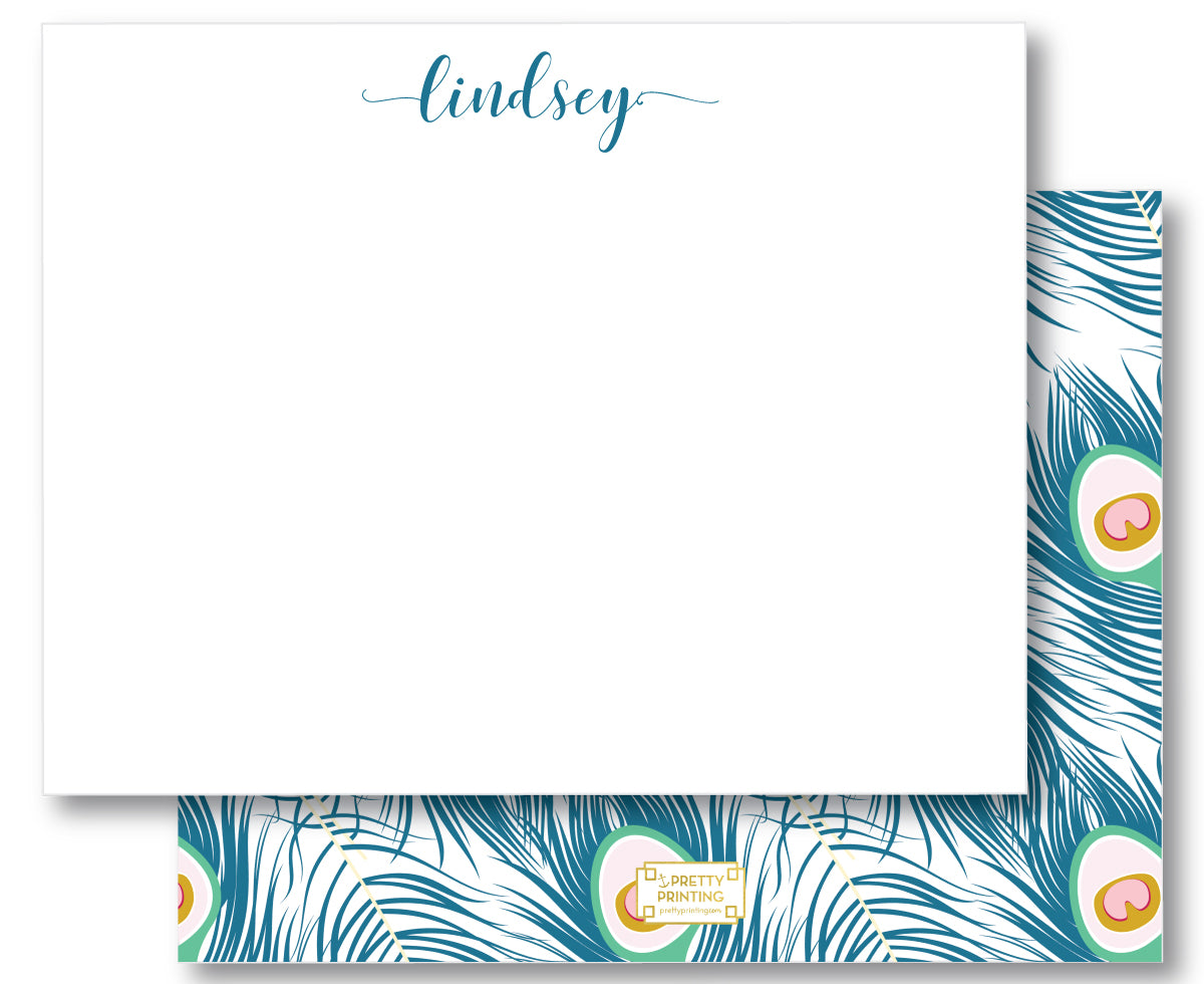 Notecard Double Sided - Peacock