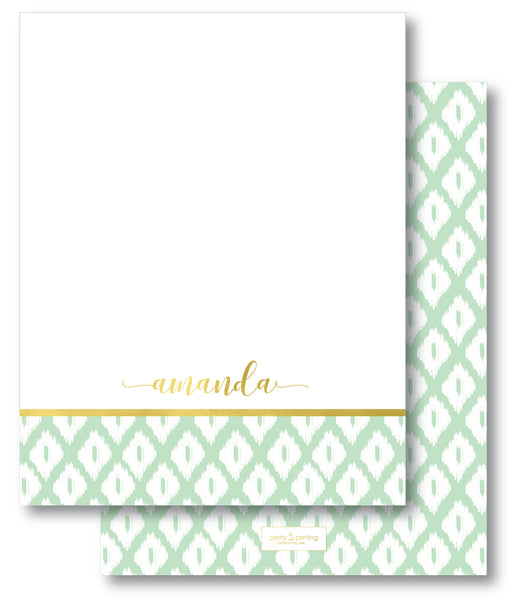 Notecard Double Sided - Simple Ikat Mint