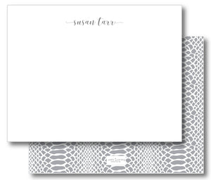 Notecard Double Sided - Snakeskin