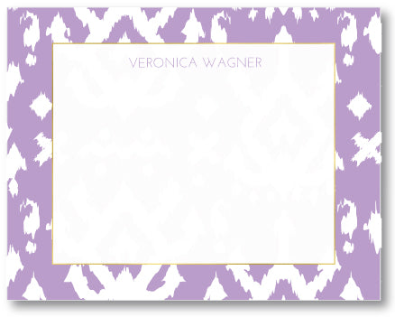 Notecard Island Ikat Orchid