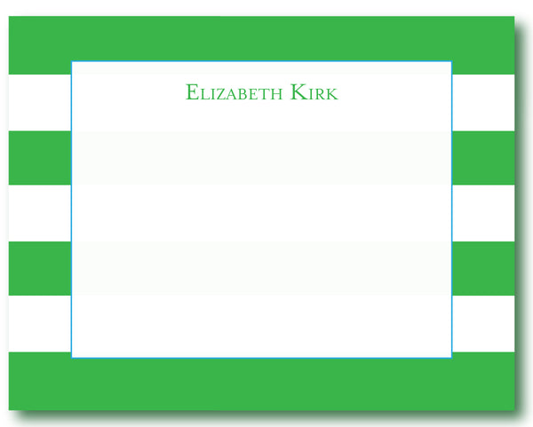 Notecard Awning Stripes Green