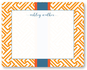Notecard Fretwork Orange