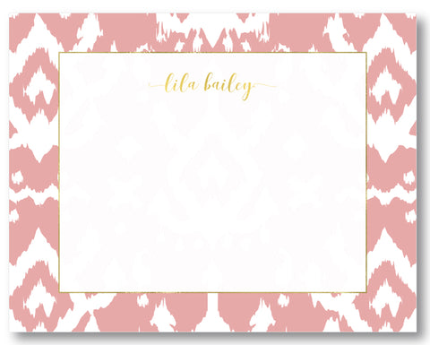 Notecard Island Ikat Blush